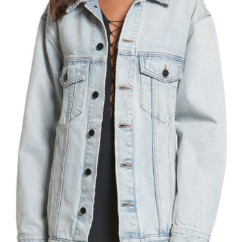 Denim x Alexander Wang Daze Bleach Oversize Denim Jacket | Nordstrom