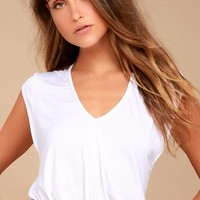 Free People Tees For My Jeans White Bodysuit