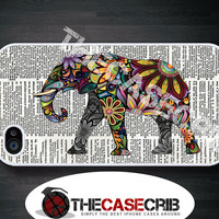 iPhone case Colorful Elephant on Dictionary page iPhone 4s and iPhone 4