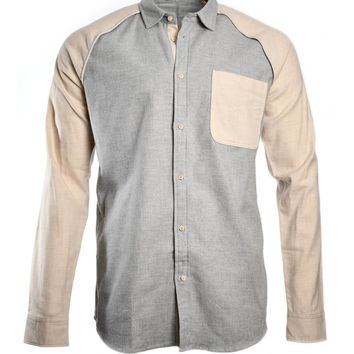 Scotch & Soda Combined Brushed Cotton Shirt - Color Combo A
