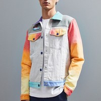 Mokuyobi Airbrushed Denim Trucker Jacket | Urban Outfitters