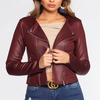 Asher Jacket - Wine