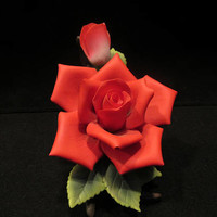 "Red Rose Flower by ""Andrea"" by Sadek, Made in China  (1595)"