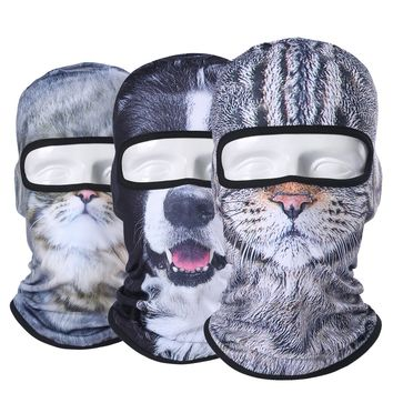 Winter 3D Animal Balaclava Full Face Mask Combat Bicycle Hats Cap Warmer Snowboard Halloween Party Cat Dog Protection Men Women