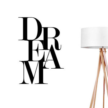Dream Wall Decal, Typography Wall Stickers, Kids Sticker, Typography Decal, Nursery Decal, Nursery Decor, Dream Sticker, Bedroom Wall Decal