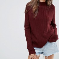 ASOS Ultimate Chunky Jumper With Slouchy High Neck at asos.com