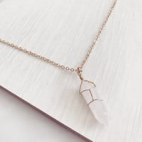 Crystal wire necklace