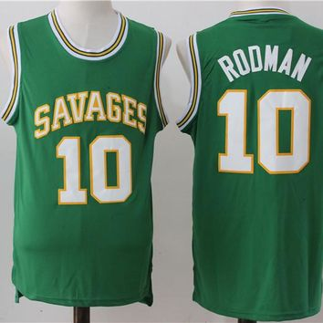Best Deal Online College Basketball Jerseys Southeastern Oklahoma State Savage Storm #10 Dennis Rodman Royal Green