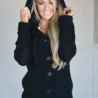 Something Big Cozy Sweater ~ Black