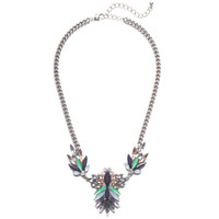 Peacock Spikes Necklace