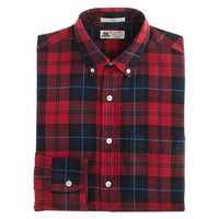 Thomas Mason For J.Crew Flannel Shirt In Engine Red Plaid