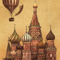 Trip to Moscow Art Print by Terry Fan