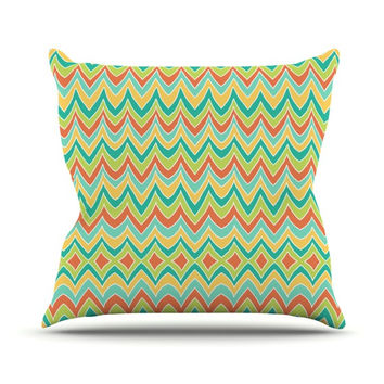 "Pom Graphic Design ""Bright and Bold"" Throw Pillow"