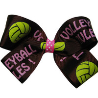 Large Volleyball Rules Volleyball Hair Bow