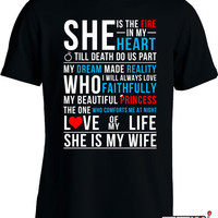Couple T Shirt Valentine's Day Shirt Gifts For Husband Marriage Shirt Joke Mens Tee MD-306A