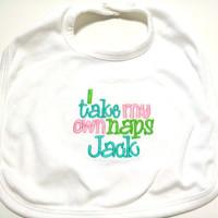 Unisex Baby Bib Duck Dynasty Inspired Boy or Girl Made to Order Embroidered
