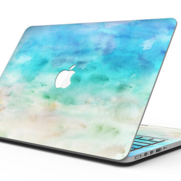 Blushed Mint 32 Absorbed Watercolor Texture - MacBook Pro with Retina Display Full-Coverage Skin Kit