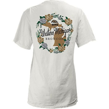 Western Michigan University Women's Slim Fit Floral Short Sleeve T-Shirt | Western Michigan University