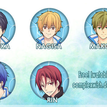 Free! Iwatobi Swim Club buttons