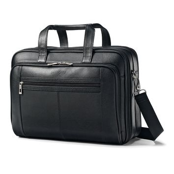 Samsonite Luggage, Classic Leather 15.6-in. Laptop Briefcase (Black)