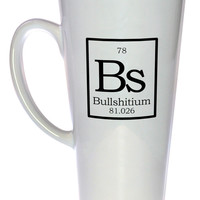 Element Bs - Bullshittium Fake Periodic Table Coffee or Tea Mug, Latte Size