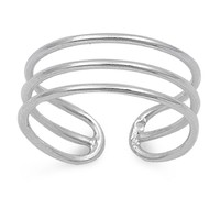 Sterling Silver Tri Wires 5MM Toe Ring/ Knuckle/ Mid-Finger