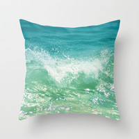 Nature of the sea... Throw Pillow by Lisa Argyropoulos