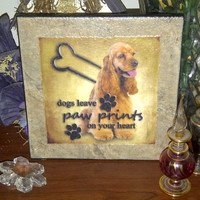 Cocker Spaniel Ceramic Wall Tile