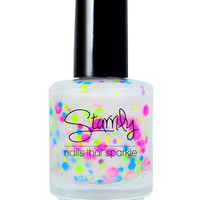 Birthday Cake  Neon Handmade Nail Polish Full Bottle by Starrily