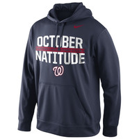 Washington Nationals Nike 2014 MLB Playoffs October Natitude Leaders Local Therma-FIT Hoodie - Navy Blue