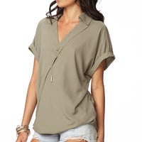Twisted Hem Georgette Top