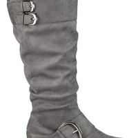 Gray Vicki Metallic Buckle Boot - Gray