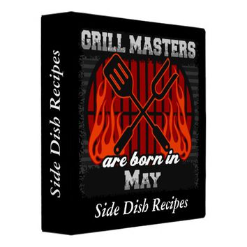Grill Masters Are Born In May Personalized Binder