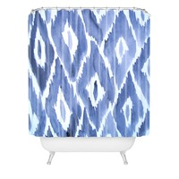 Natalie Baca Painterly Ikat in Indigo Shower Curtain
