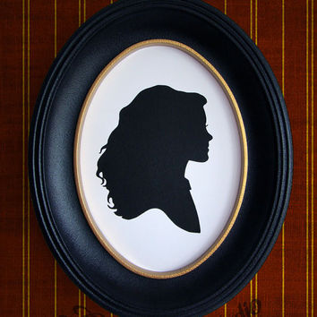 Hermione Granger from Harry Potter Hand-Cut Paper Silhouette Portrait