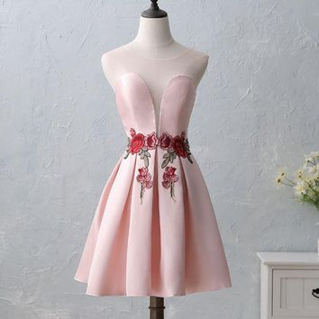 LMFIH3 New Summer Bride Tasting Dress Short Embroidered Small Dress Dress Marriage Marriage Evening Banquet