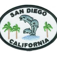 San Diego Patch - California, Dolphins, Palm Trees