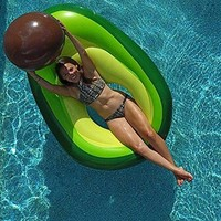 Luxury Inflatable Avocado Pool Float Beach Ball Pit