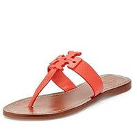 Tory Burch Moore Flat Thong Sandal, Poppy Coral, Size 6.5