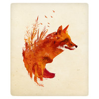Plattensee Fox Fleece Throw