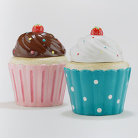 Cupcake Cookie Jars, Set of 2