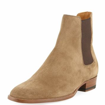 Eddie Suede Chelsea Boot by Saint Laurent