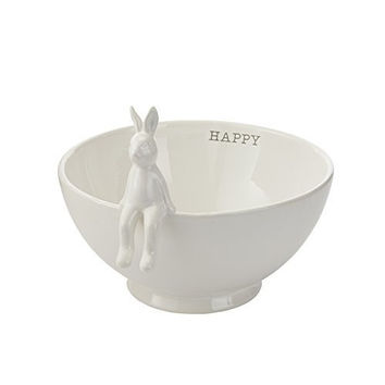 Sitting Bunny Footed Serving Bowl