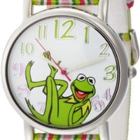 Muppets Women's MU1010 Kermit the Frog Dial Multi-Color Watch with Fabric Strap