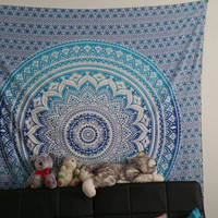 Mandala Tapestries, Hippie Ombre Wall Tapestries, Indian Tapestry Wall Hanging, Bohemian Boho Tapestries, Mandala tapestries, Beach Sheet