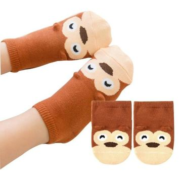 Baby Monkey Stretch Socks