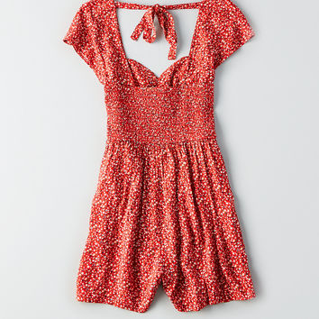 AEO Sweetheart Romper, Red
