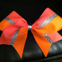 Neon hot pink and orange 3 inch cheerleader cheer by 2girls2Tus