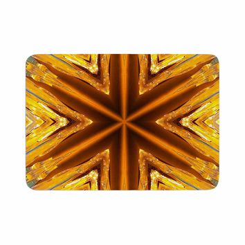 "Philip Brown ""Gold Star Icicles"" Gold Blue Memory Foam Bath Mat"