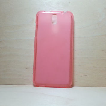 HTC Desire 610 Soft TPU translucent Color Case Protective Silicone Back Case Cover - Pink